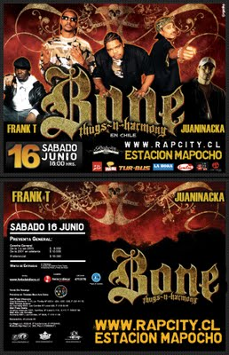 Bone Thug -N- Harmony en Chile - 2007 (Presiona la imagen para ver foto más grande)