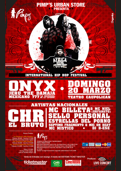 ONYX, Jeru The Damaja & Mexicano 777 en Chile
