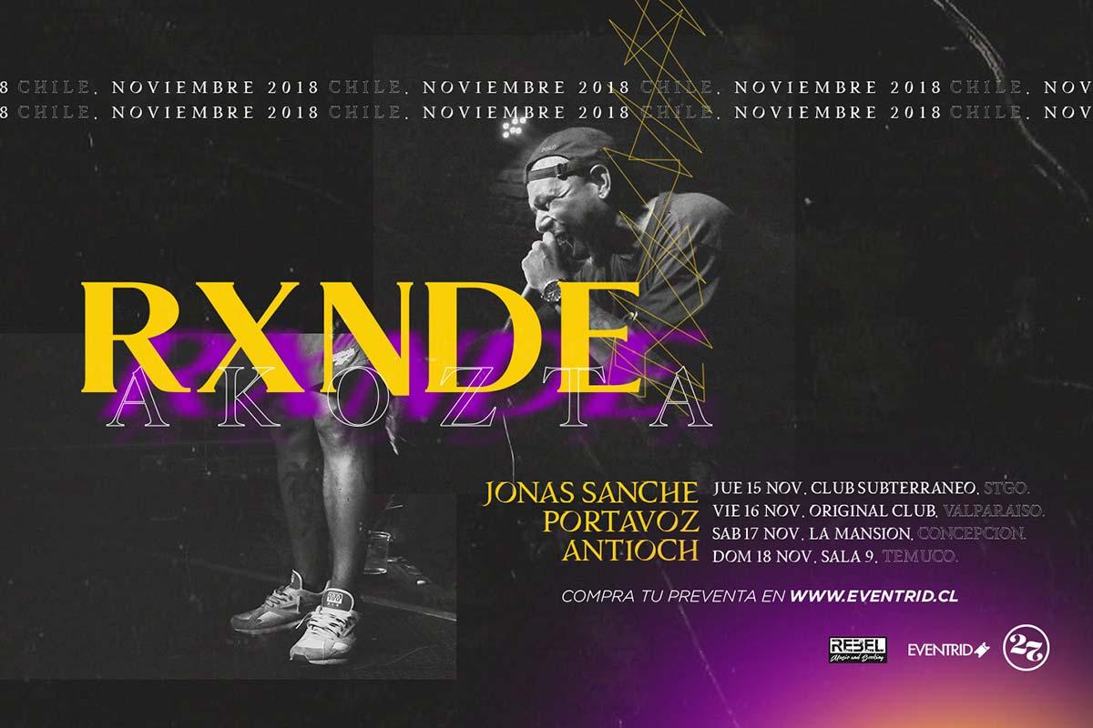 Noviembre 2018  Rxnde Akozta (Cu) en Chile + Jonas Sanche   Portavoz. 096a475b2ac